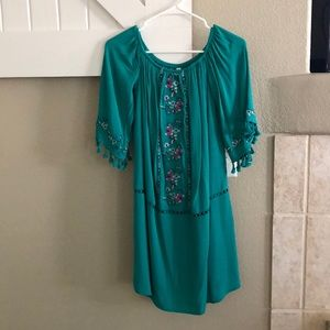 Turquoise Western Dress